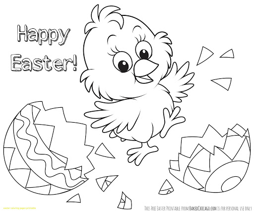 Easter Coloring Pages For Toddlers