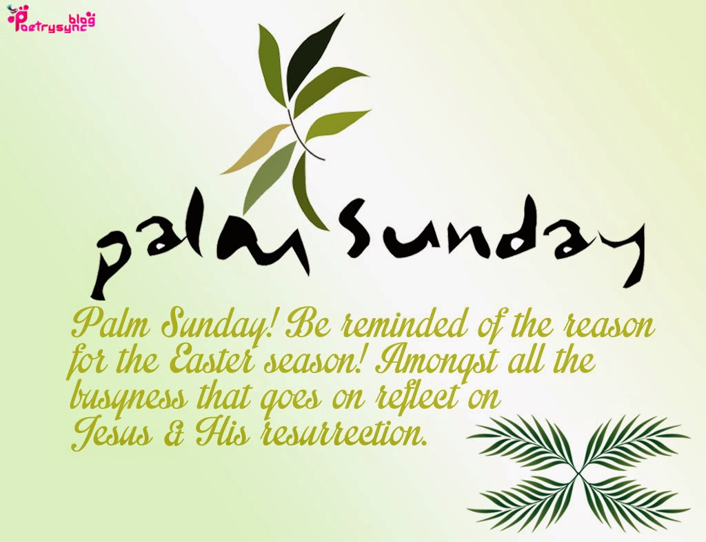 Palm Sunday Quotes and Images