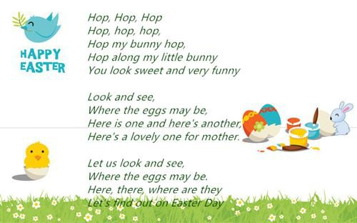 Short Easter Poems For Children