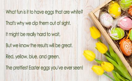 Short Easter Poems for Preschoolers