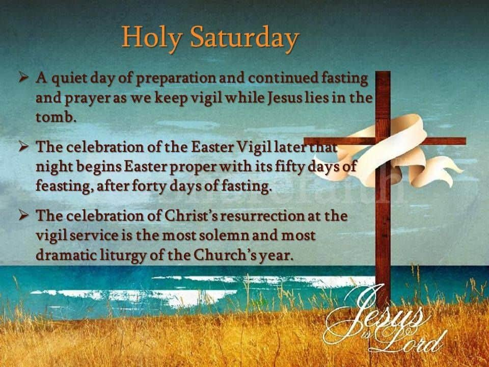 Holy Saturday Images With Quotes